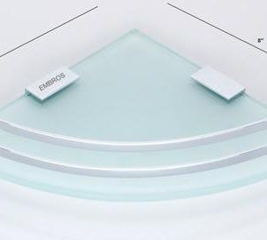 GLASS SHELF FOR BATHROOM WALL
