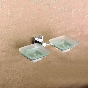 CLEAR GLASS SOAP DISH