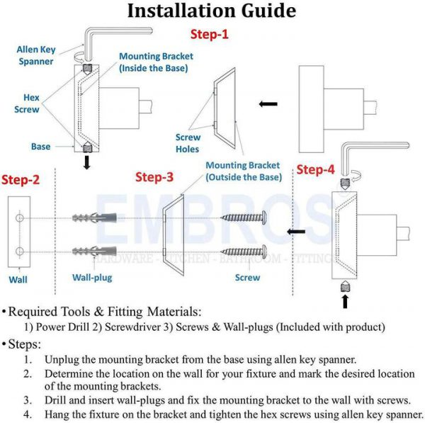 WALL MOUNTED TOWEL BAR INSTALLATION GUIDE