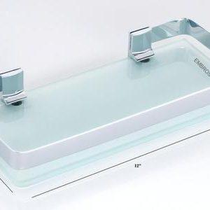 GLASS WALL SHELVES FOR LIVING ROOM CHROME 6 X 12 SUPERIOR