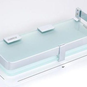 18 INCH GLASS BATHROOM SHELF
