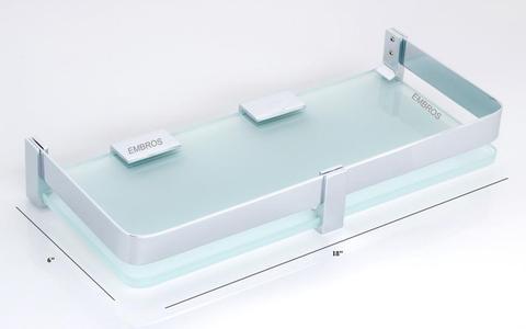 18 INCH GLASS BATHROOM SHELF