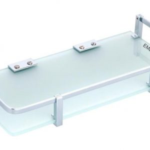 STAINLESS STEEL GLASS SHELF